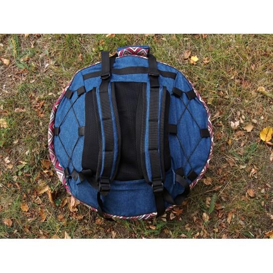 Handpan semi-hard case, Denim decorated photo 3