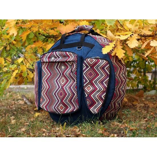 Handpan semi-hard case, Denim decorated photo 1
