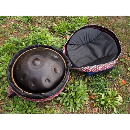 Handpan semi-hard case, Denim decorated photo 5