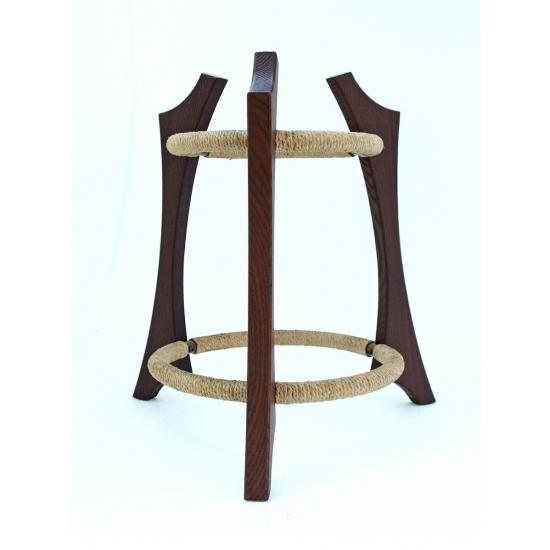 Wooden handpan stand, dark brown photo 6
