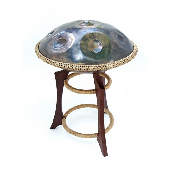 Wooden handpan stand, dark brown photo 1