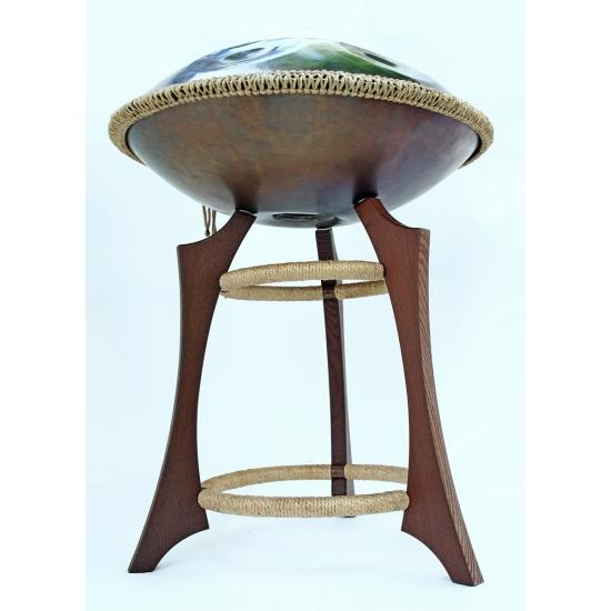 Wooden handpan stand, dark brown photo 2
