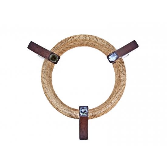 Wooden handpan stand, dark brown photo 3