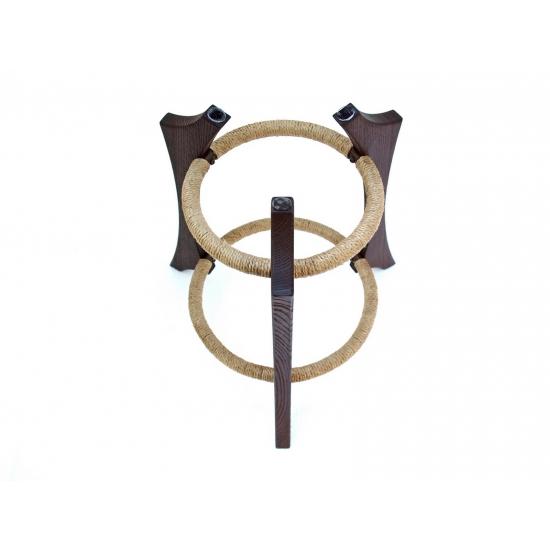 Wooden handpan stand, dark brown photo 4