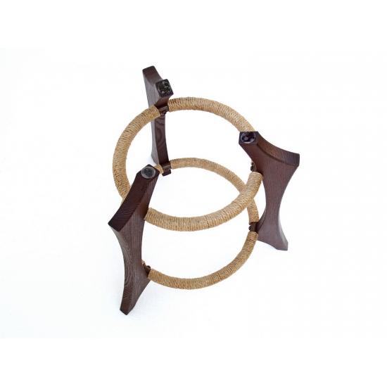 Wooden handpan stand, dark brown photo 5