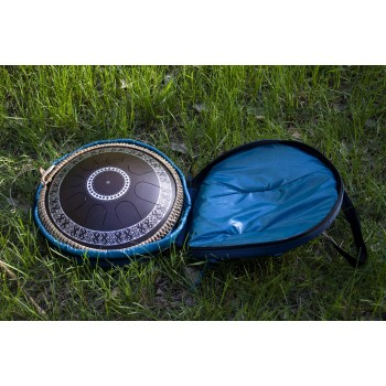 Backpack for tongue pans and tongue drums1 inside